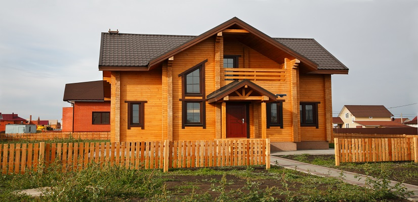 Dřevěná obložení štítů domů